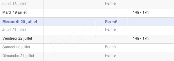 horaires d'ouverture de la Mairie De Chevry-Sous-Le-Bignon