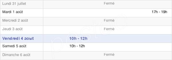 horaires d'ouverture de la Mairie De Melz-Sur-Seine