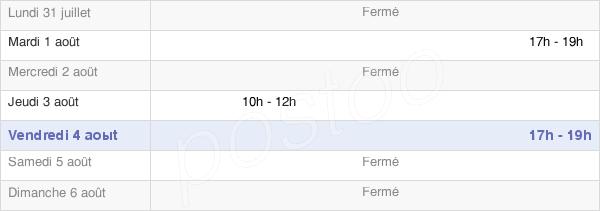 horaires d'ouverture de la Mairie De Mignères