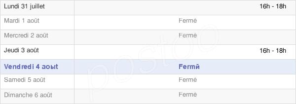 horaires d'ouverture de la Mairie De Montceaux-Lès-Provins