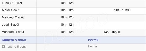 horaires d'ouverture de la Mairie De Saint-Florent-Le-Jeune
