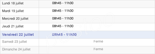 horaires d'ouverture de la Mairie De Luzancy