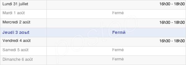 horaires d'ouverture de la Mairie De Courcelles En Bassée