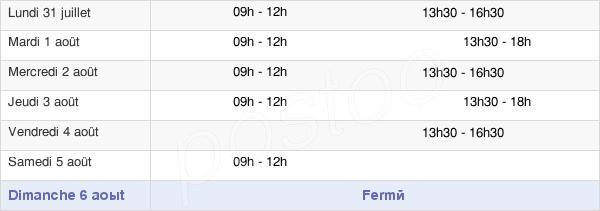 horaires d'ouverture de la Mairie De Saint-Mard