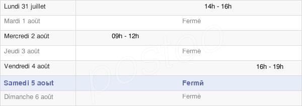 horaires d'ouverture de la Mairie De Thoury-Férottes
