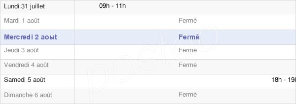 horaires d'ouverture de la Mairie De Montolivet
