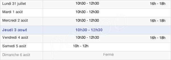 horaires d'ouverture de la Mairie D'Esmans