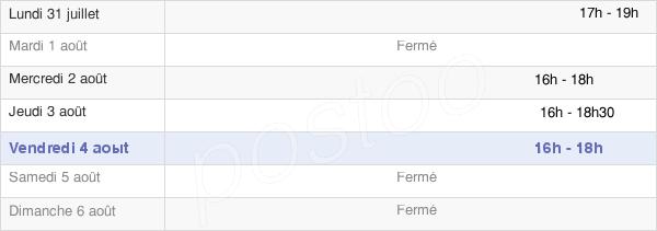 horaires d'ouverture de la Mairie D'Hermé