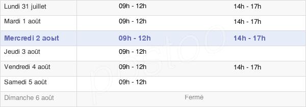 horaires d'ouverture de la Mairie De Montigny-Lencoup