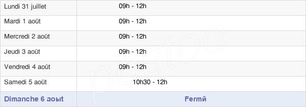 horaires d'ouverture de la Mairie De Beaumont-Du-Gâtinais