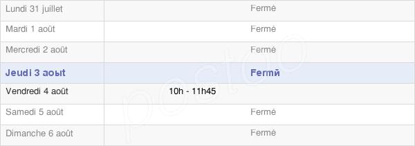 horaires d'ouverture de la Mairie De Saint-Léger