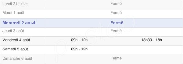 horaires d'ouverture de la Mairie De Moussy-Le-Neuf