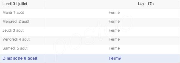 horaires d'ouverture de la Mairie De Fontanes
