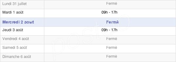 horaires d'ouverture de la Mairie De Saint-Laurent-De-Muret