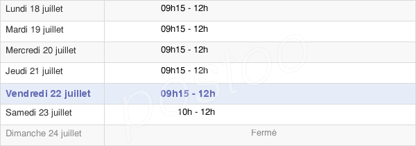 horaires d'ouverture de la Mairie D'Ardon