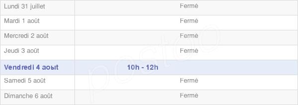 horaires d'ouverture de la Mairie De La Panouse