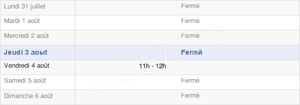 horaires d'ouverture de la Mairie De Fraissinet-De-Lozère