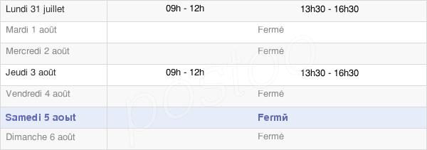 horaires d'ouverture de la Mairie De Gabriac