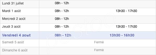 horaires d'ouverture de la Mairie De Saint-Germain-Du-Teil
