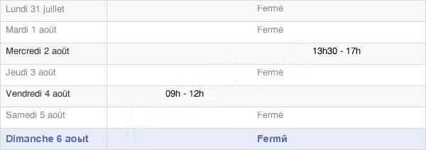 horaires d'ouverture de la Mairie De Trélans