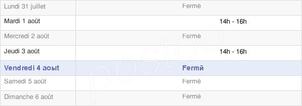 horaires d'ouverture de la Mairie De Recoules-D'Aubrac