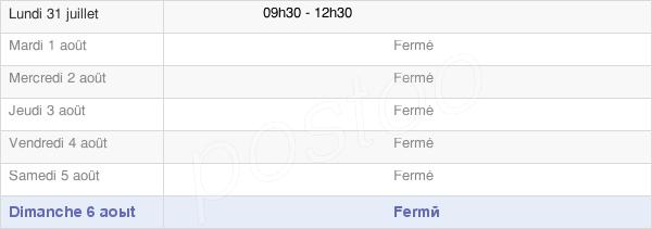 horaires d'ouverture de la Mairie D'Arzenc De Randon