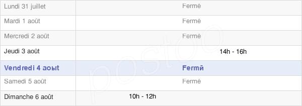 horaires d'ouverture de la Mairie De La Fage-Montivernoux