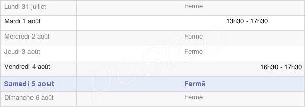 horaires d'ouverture de la Mairie De Prunières