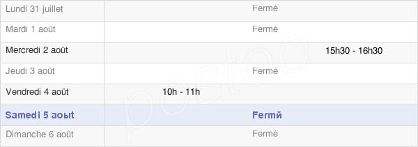 horaires d'ouverture de la Mairie De Julianges