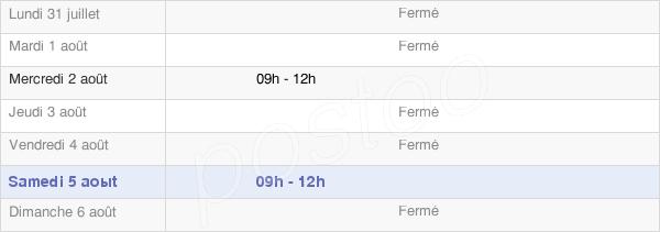horaires d'ouverture de la Mairie De Saint Denis En Margeride