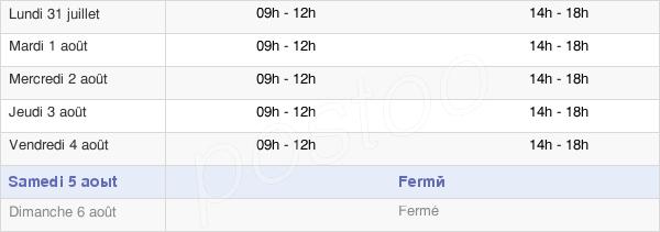 horaires d'ouverture de la Mairie De Bagnols Les Bains