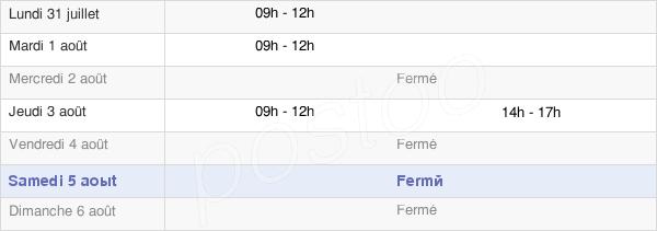 horaires d'ouverture de la Mairie Du Pompidou