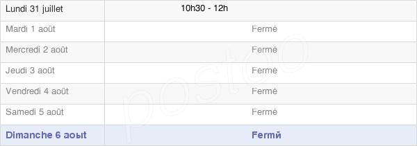 horaires d'ouverture de la Mairie De Arcy Sainte Restitue