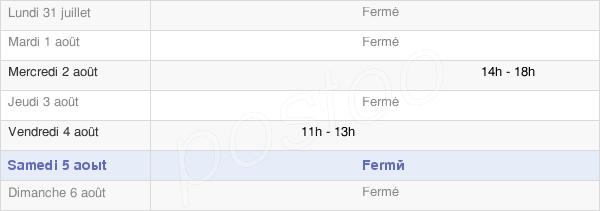 horaires d'ouverture de la Mairie De Filain