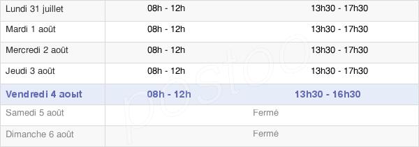 horaires d'ouverture de la Mairie De La Fère