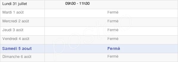 horaires d'ouverture de la Mairie De Villers-En-Prayères