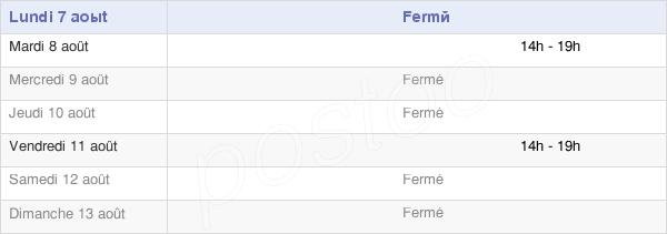 horaires d'ouverture de la Mairie De Celles-Lès-Condé