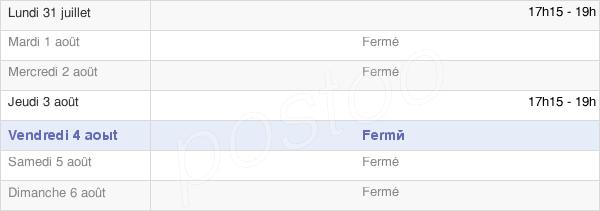 horaires d'ouverture de la Mairie De Clacy-Et-Thierret