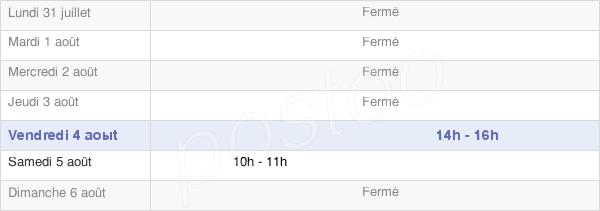 horaires d'ouverture de la Mairie De Pargny-Les-Bois
