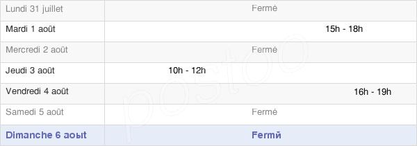 horaires d'ouverture de la Mairie De Villers-Saint-Christophe