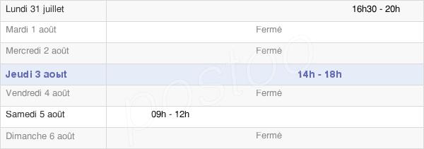 horaires d'ouverture de la Mairie De Verdilly