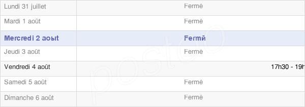 horaires d'ouverture de la Mairie De Fontenelle-En-Brie