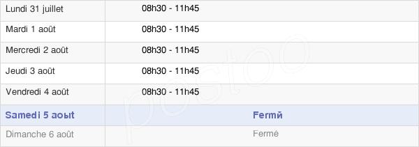 horaires d'ouverture de la Mairie De Coeuvres-Et-Valsery
