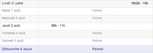 horaires d'ouverture de la Mairie De Saint-Agnan