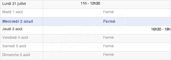 horaires d'ouverture de la Mairie De Berlancourt