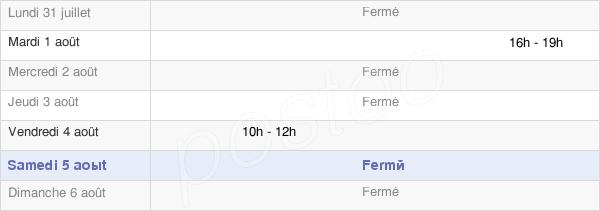 horaires d'ouverture de la Mairie De Missy Les Pierrepont