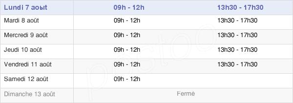 horaires d'ouverture de la Mairie De Soissons