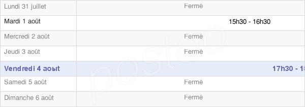 horaires d'ouverture de la Mairie De La Neuville-Bosmont