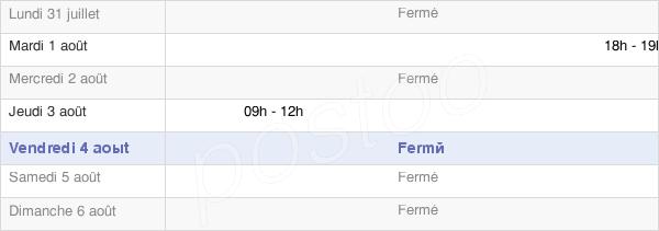 horaires d'ouverture de la Mairie De Conde Sur Suippe