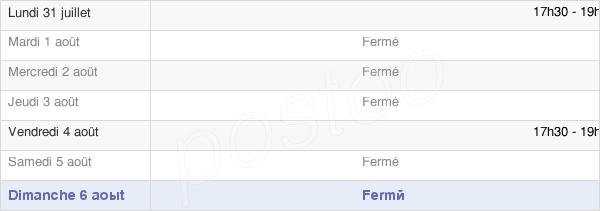 horaires d'ouverture de la Mairie De Faverolles